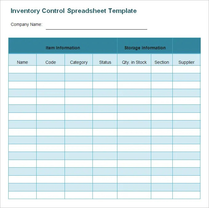 Lists Blank Inventory Printable Free