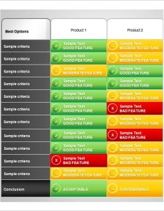Product comparison chart template ppt format also templates word excel pdf free  premium rh