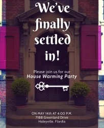 housewarming invitation template party templates simple psd