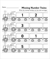 10+ Sample Missing Numbers Worksheet Templates   Free ...