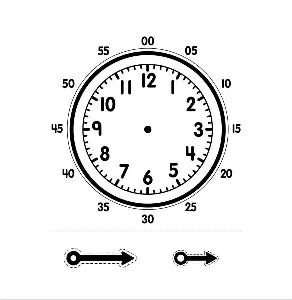paper clock template for kids