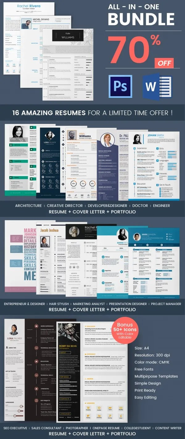 Free Sample Resume Templates Downloadable Creative Resume Template 79 Free Samples Examples Format