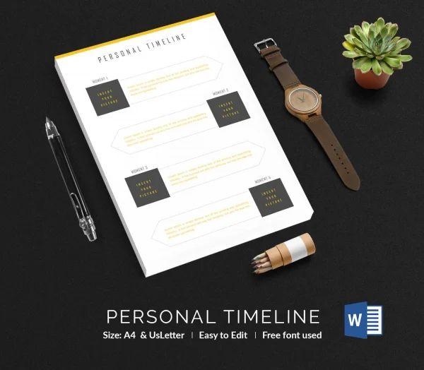 timeline format for word