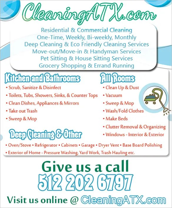 House Cleaning Flyer Template 23 PSD Format Download Free
