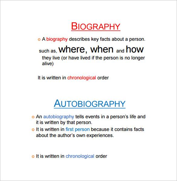 23+ Autobiography Outline Templates - DOC, PDF | Free & Premium ...