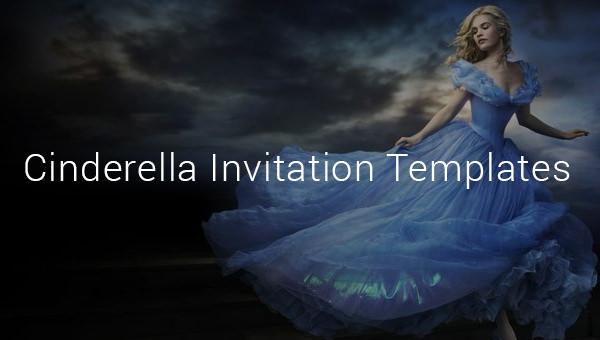 amazing cinderella invitation templates