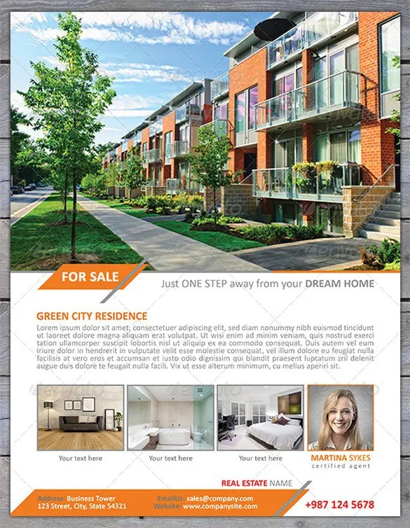 Home for sale flyer free download 20 high school for House for sale brochure template