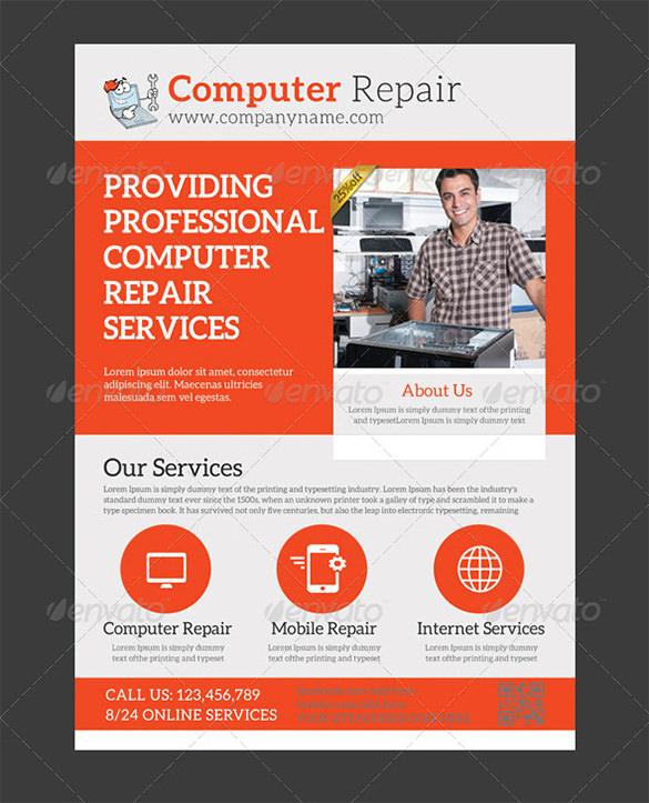 computer repair ad template