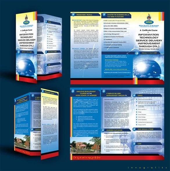 11 Useful Course Brochure Templates Free & Premium