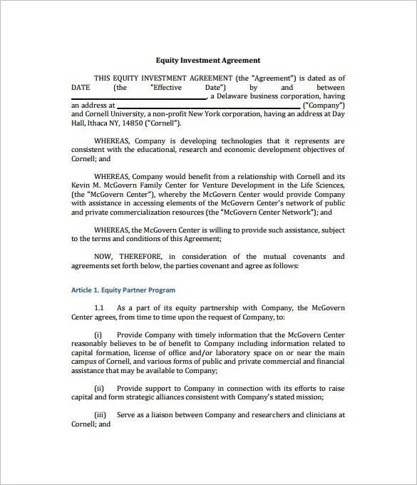 11 Investment Contract Templates  Free Word PDF Documents Download  Free  Premium Templates