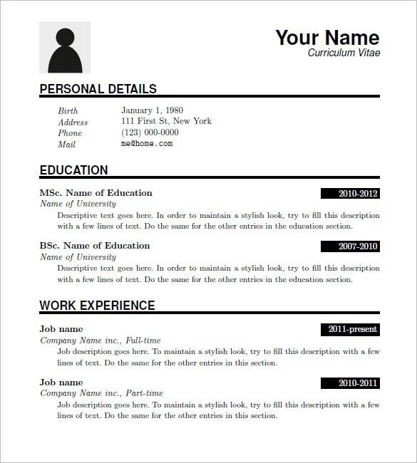 15 Latex Resume Templates  PDF DOC  Free  Premium Templates