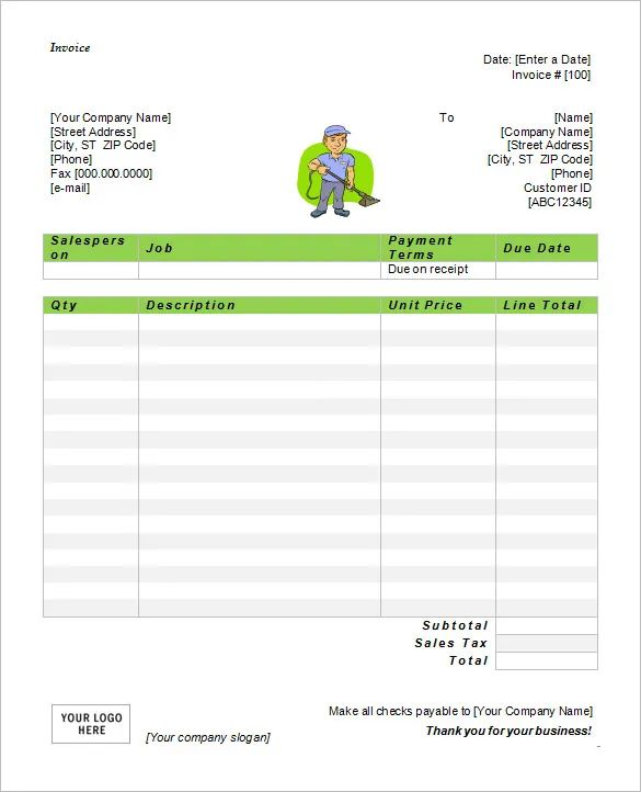 free invoice templates for microsoft word