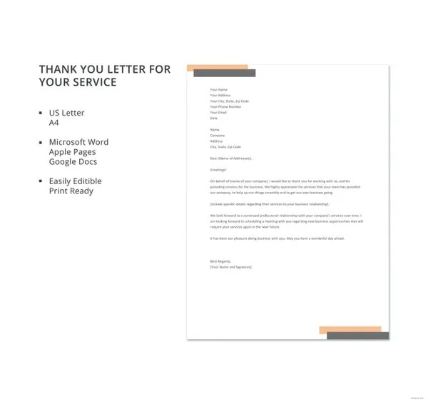 8 thank you letters