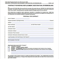 Kitchen Remodeling Contract Sample Amazon Mat 10+ Home Templates - Word, Docs, Pages ...
