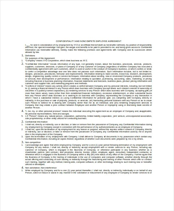 Human Resources Confidentiality Agreement – 10+ Free Word, PDF ...
