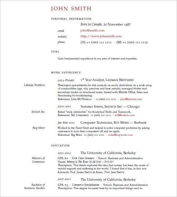 latex cv template download