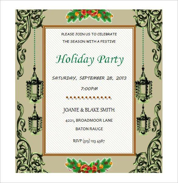 invitation card templates word