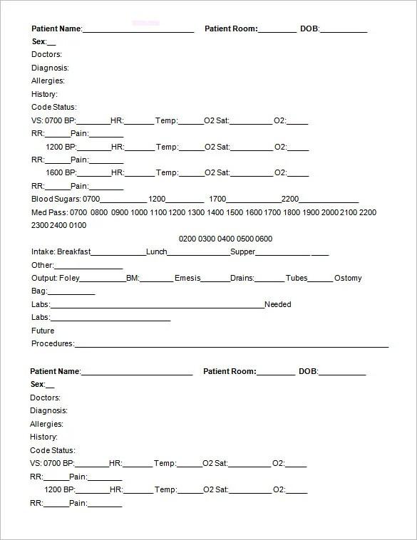rn report sheet  Heartimpulsarco