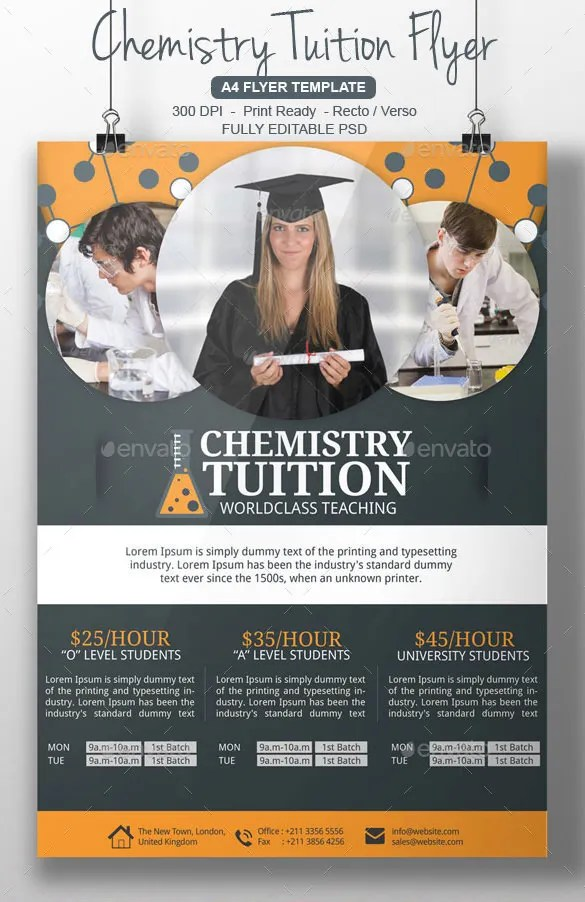 31 Tutoring Flyer Templates PSD AI Vector EPS Format