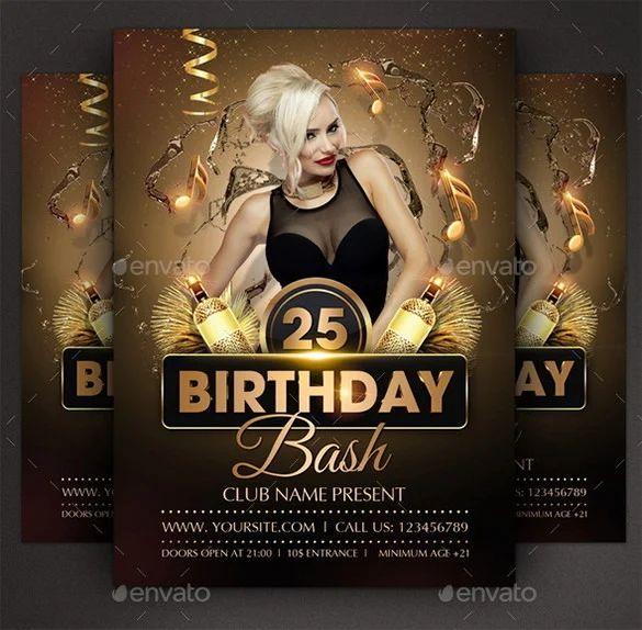 free printable birthday flyers