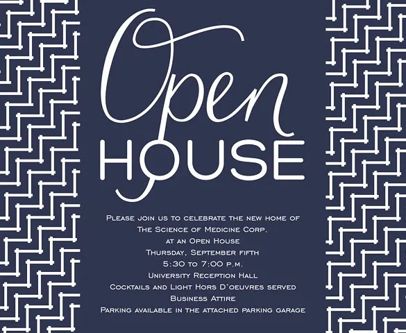Open House Invitation Template – 11 Free PSD Vector EPS AI