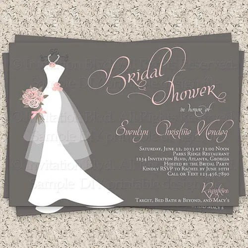 Free Printable Bridal Shower Invitation Templates For A Stunning With Smart Design 10