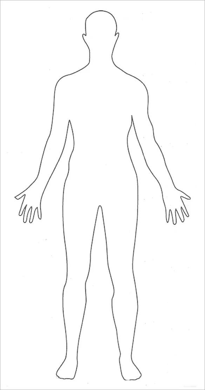Human Body Drawing Template