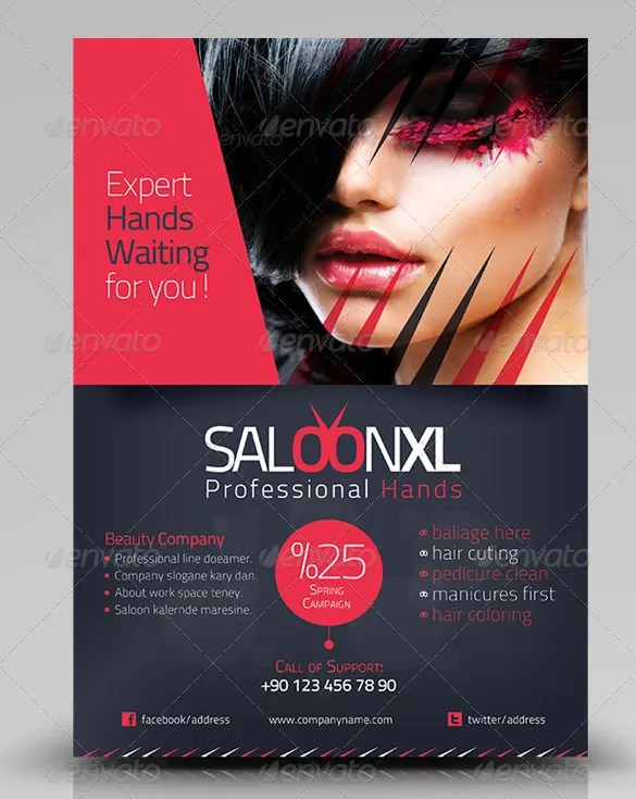 84 Beauty Salon Flyer Templates PSD EPS AI