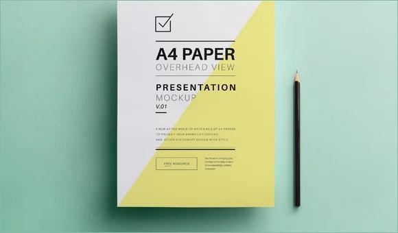 27 A4 Paper PSD Mockup Templates  Free  Premium Templates