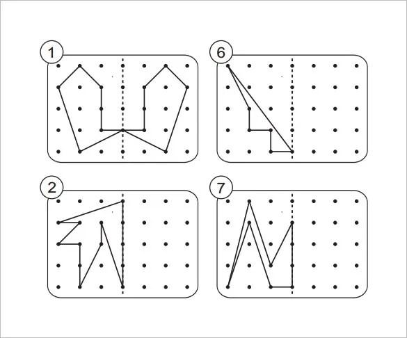 Reflection Symmetry Worksheets