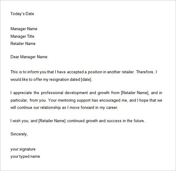 how to write a two week notice for your job