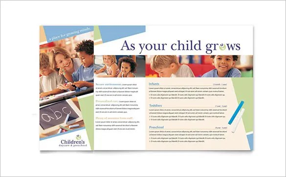 13 Beautiful Child Care Brochure Templates Free & Premium Templates