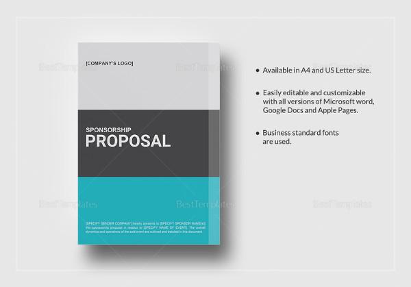 Sponsorship Proposal Template – 15 Free Word Excel PDF