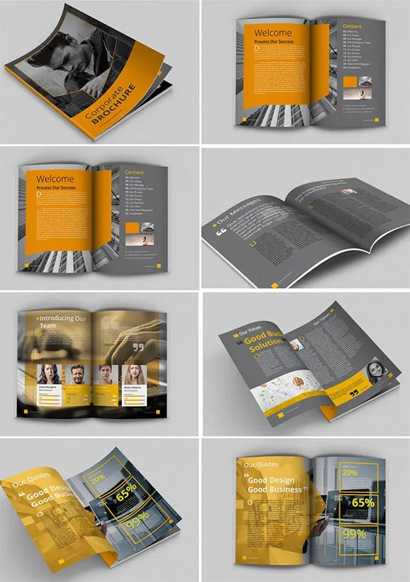 17 Awsome Brochure Sizes And PSD Design Examples  Free  Premium Templates