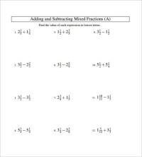 15+ Adding And Subtracting Fractions Worksheets  Free PDF ...