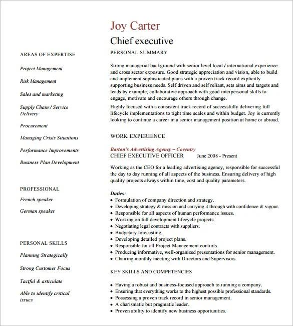 16 Executive Resume Templates PDF DOC Free & Premium