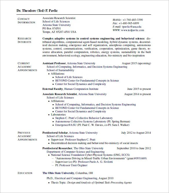 15 latex resume templates free samples examples formats - Life Science Resume Examples