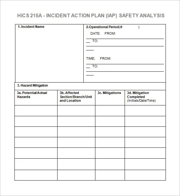Incident Action Plan Template - 7+ Free Word, Excel, PDF Format ...