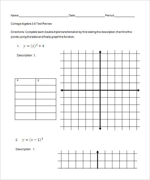 Printables. College Algebra Worksheets Printable. Mywcct
