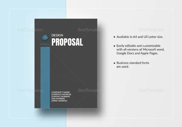 Design Proposal Templates – 17 Free Word Excel PDF