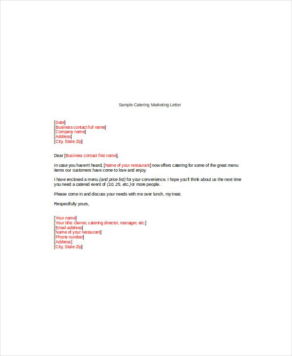 14 Marketing Letter Templates  Free Sample Example Format  Free  Premium Templates