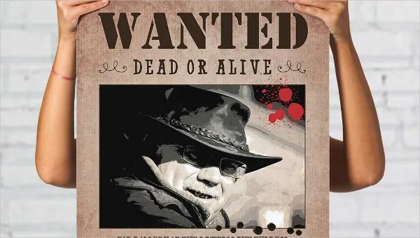 wanted poster template 34 free