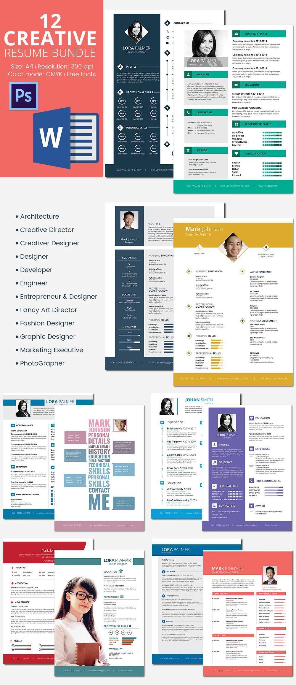 creative modern engineering resume template download