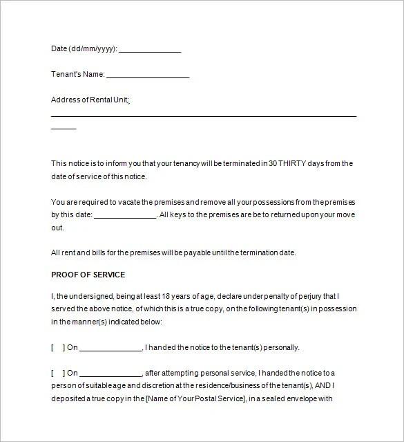 Vacate Premises Letter | Docoments Ojazlink