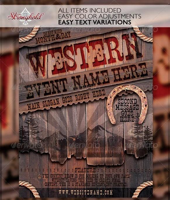 23 Creative Western Flyer Templates & PSD Designs Free & Premium