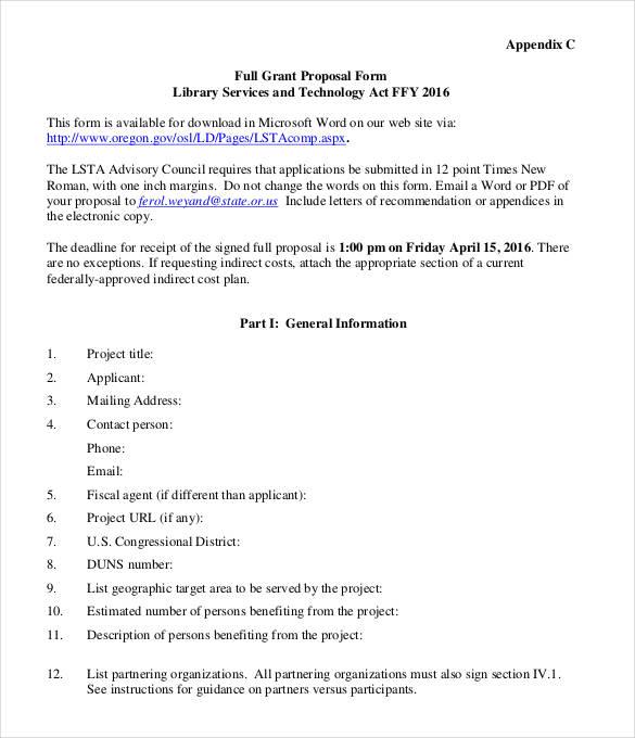 38 Grant Proposal Templates  DOC PDF Pages  Free  Premium Templates