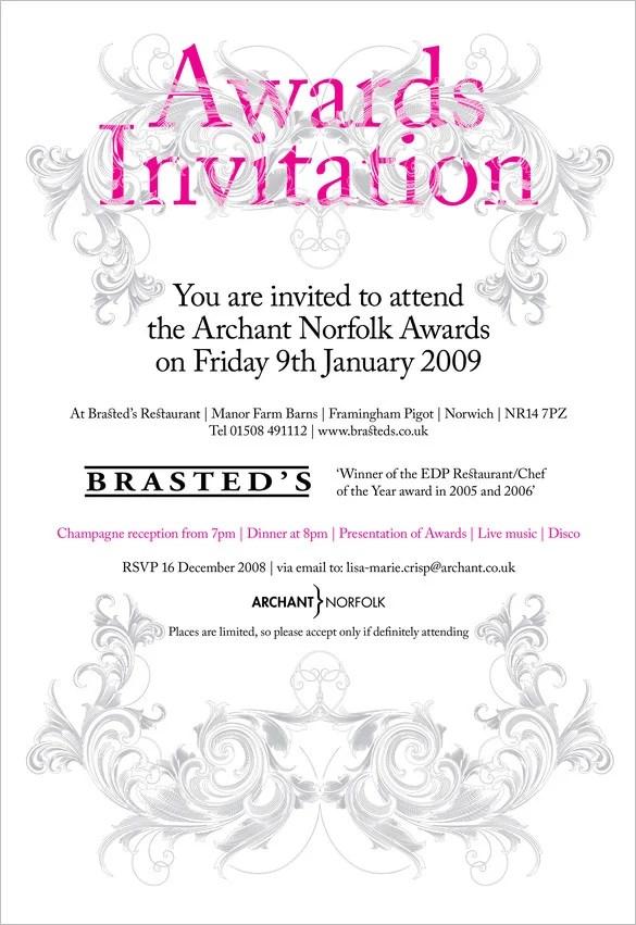 10+ Glorious Award Ceremony Invitation Templates  Psd, Ai