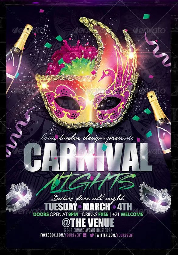 carnival flyer template free word