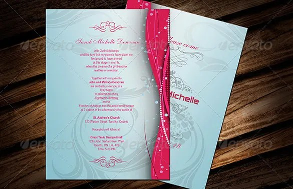 27 Debut Invitation Templates  PSD AI Vector EPS
