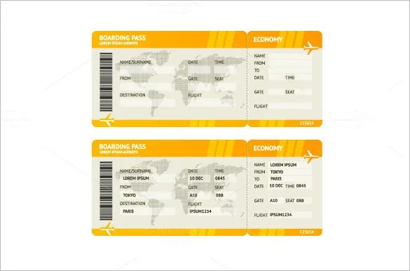 Ticket Template Microsoft Word - FREE DOWNLOAD